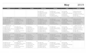 Activity Calendar May